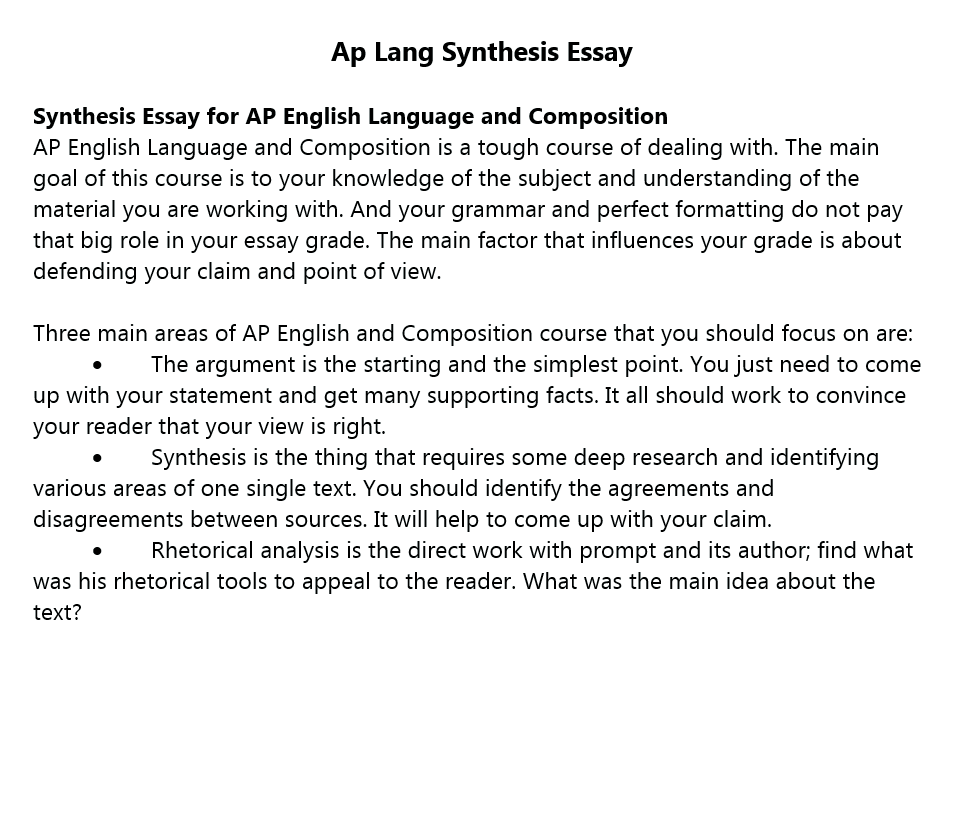 synthesis essay  detailed guide on how to write a great paper ap lang synthesis essay order paperview sample
